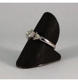18 kt. wit gouden ring diamant