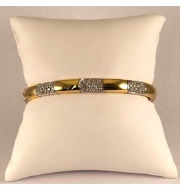 18 kt. bi color armband diamant