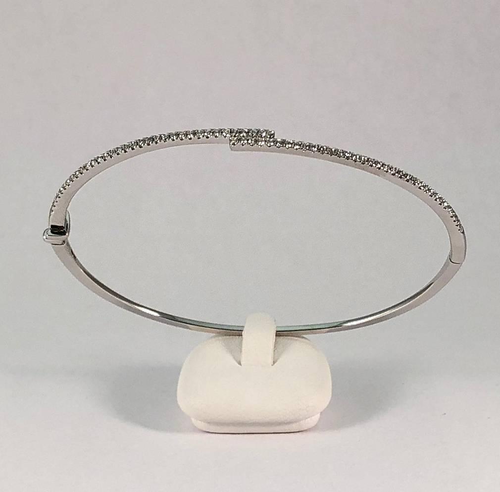 14 kt. wit gouden armband met diamanten 0.40 ct.