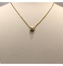 14 kt gouden collier diamant