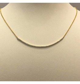 14 kt. gouden collier diamant