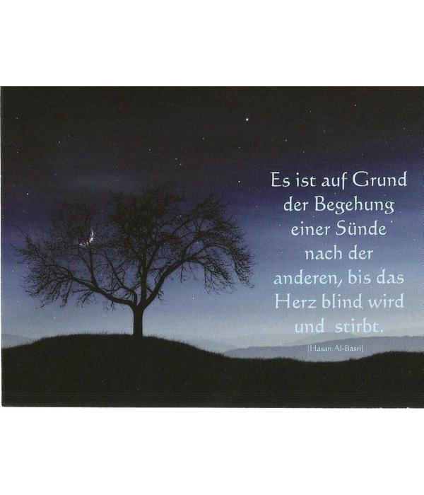 Das blinde Herz - Postkarte