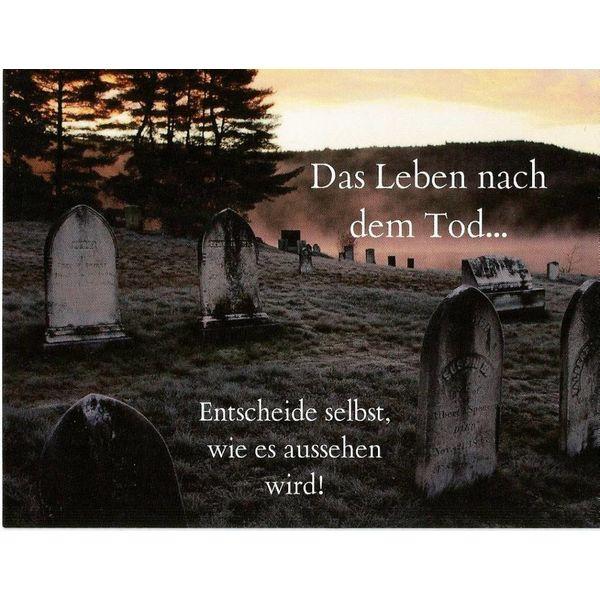 Leben nach dem Tod -Postkarte