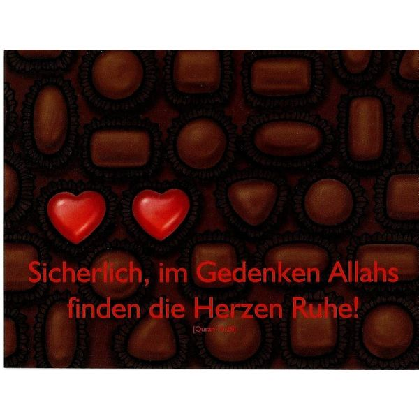Gedenken Allahs - Postkarte