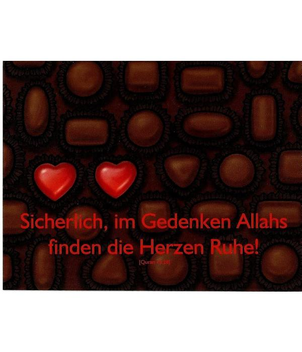 Gedenken Allahs - Postkarte - PK21