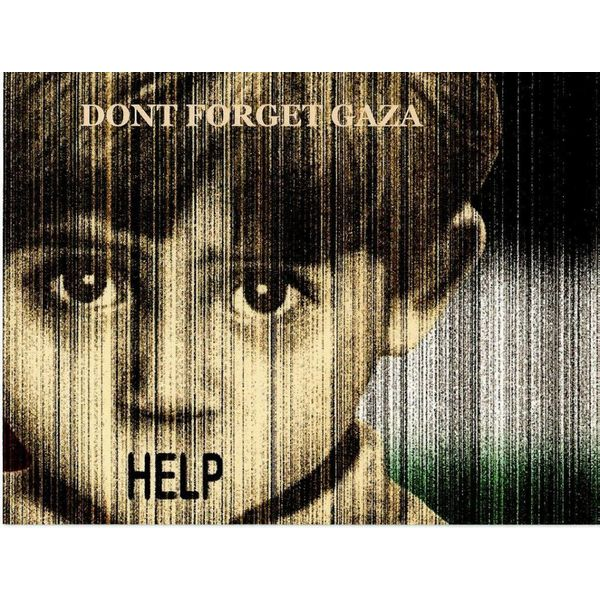 Don't forget Gaza - Postkarte
