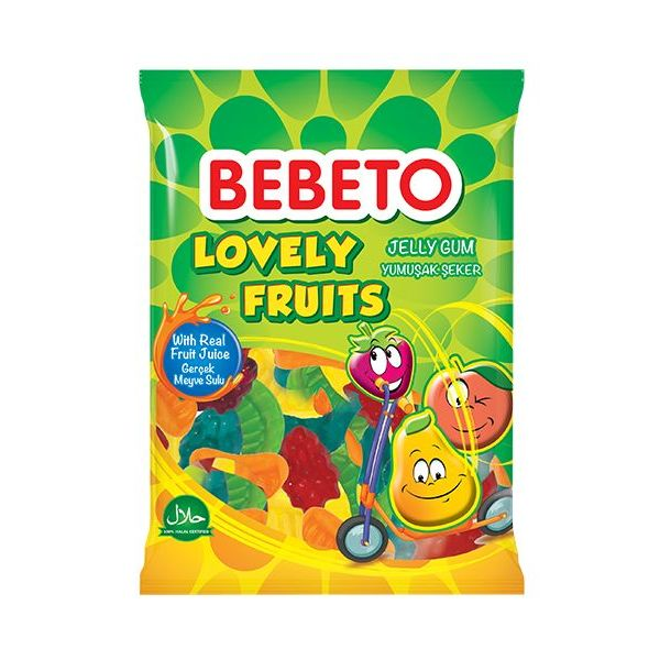 Bebeto Lovely Fruits 80g