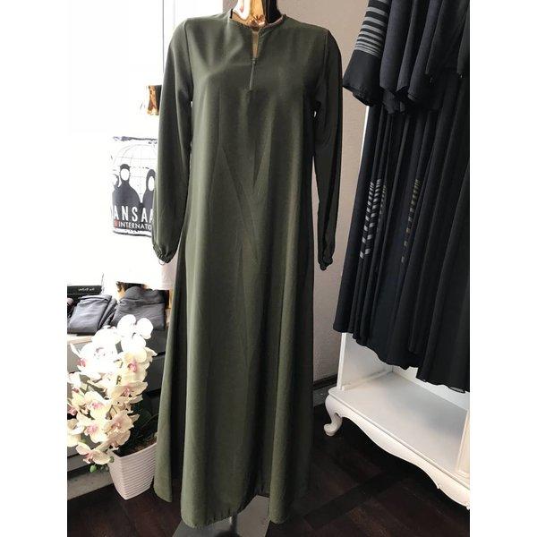 Schlichte Abaya mit Reisverschluss