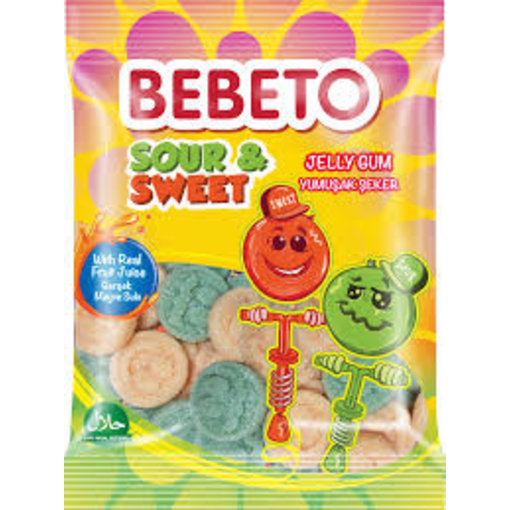 BEBETO Jelly Gum Sour & Sweet(80g)
