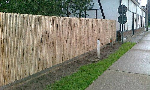 Kastanje gesloten panelen rawwood for Schutting zetten
