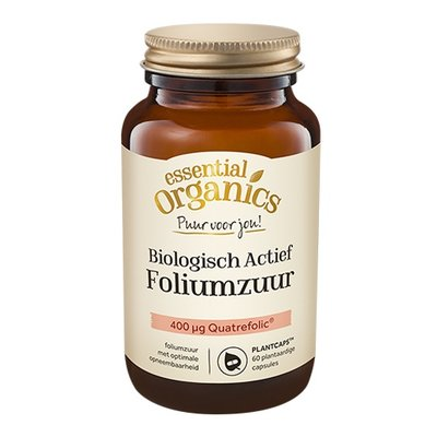 Essential Organics Essential Organics PUUR Biologisch Actief Foliumzuur 60 mini Plantcaps