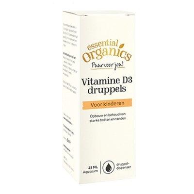 Essential Organics Essential Organics PUUR Vitamine D3 druppels 25 ml