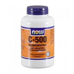 NOW C-500 Kauwtabletten Sinaasappelsmaak (100 kauwtabletten)