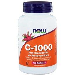 NOW C-1000 met Rozenbottel & Bioflavonoiden (100 tabs)