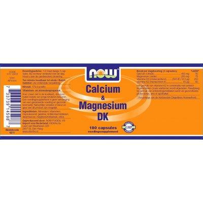 VitOrtho NOW Calcium & Magnesium DK (180 capsules)