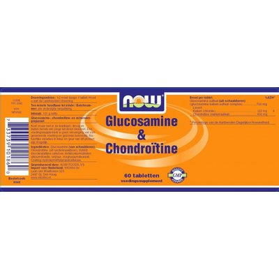 NOW NOW Glucosamine & Chondroitine (60 tabs)