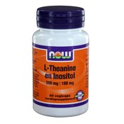NOW NOW L-Theanine 200 mg met Inositol 100 mg (60 vegicaps)