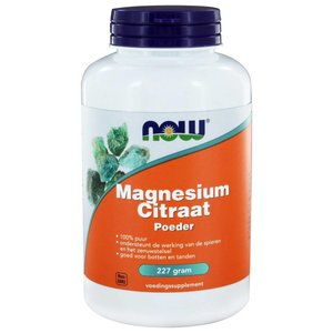 NOW Magnesium Citraat Poeder (227 gram)