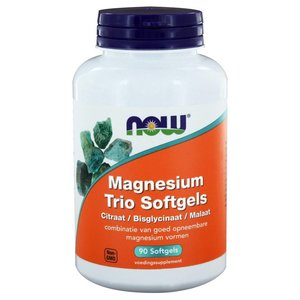 NOW Magnesium Trio Softgels 90 softgels