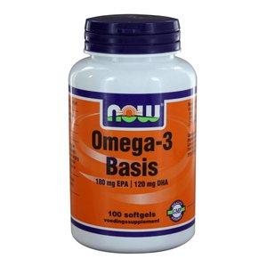 NOW Omega-3 Basis 180 mg EPA 120 mg DHA (100 softgels)