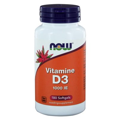 NOW NOW Vitamine D3 1000 IE (180 softgels)