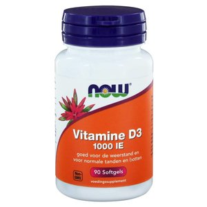 NOW Vitamine D3 1000 IE (90 softgels)