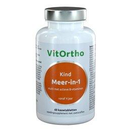 VitOrtho Meer-in-1 Kind (60 kauwtabs)