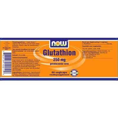 NOW NOW Glutathion 250mg (60 caps)