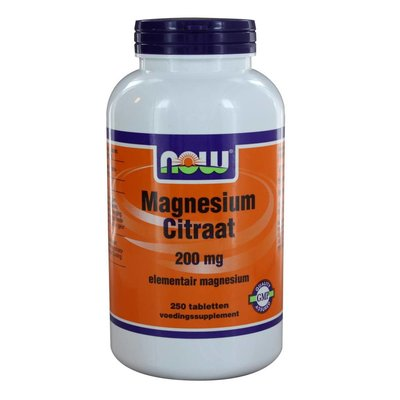 NOW NOW Magnesium Citraat 200 mg (250 tabs)