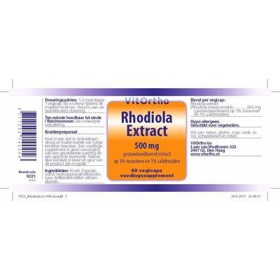 VitOrtho VitOrtho Rhodiola Extract 500 mg (60 vegicaps)