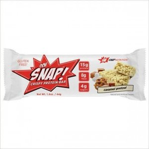 Snap Nutrition Snap Nutrition Crispy Protein Bar Caramel Pretzel 44 gram