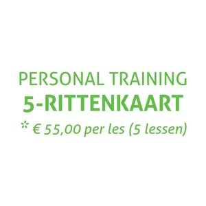 Saint Fit 5-Rittenkaart Personal Training