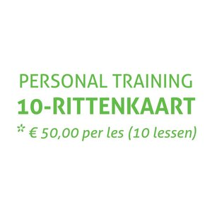 Saint Fit 10-Rittenkaart Personal Training