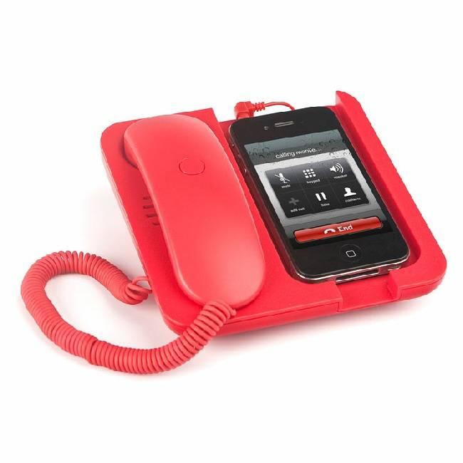 Rode Mobiele telefoonhouder en speaker Pronto!