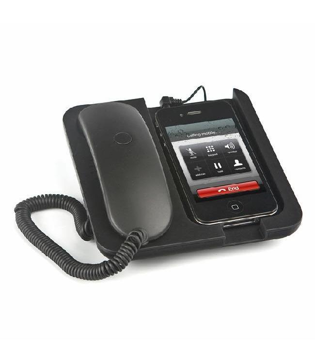 Balvi Zwarte Mobiele telefoonhouder en speaker Pronto!