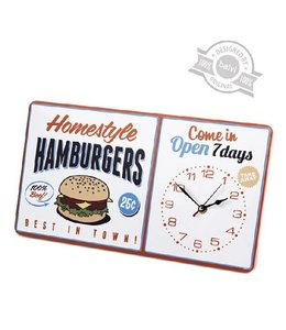Balvi Vintage wandklok Homestyle Hamburgers