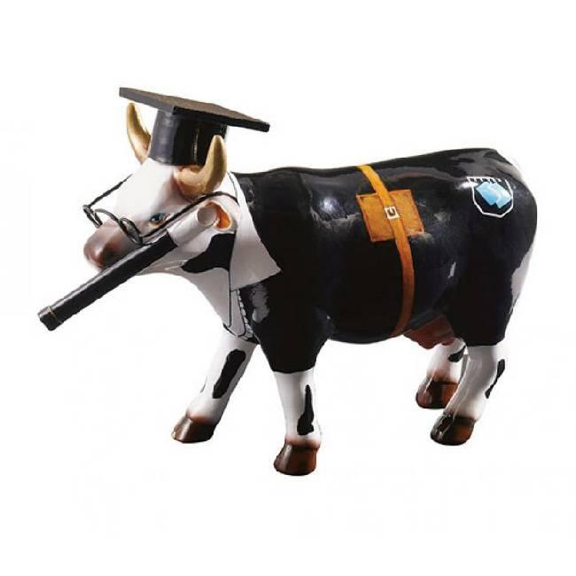 Cow Parade Cow Doutora (medium keramiek)
