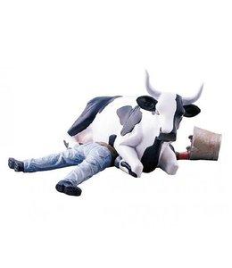 CowParade Cow Parade Ni Mu - Cow sitting on man (medium)