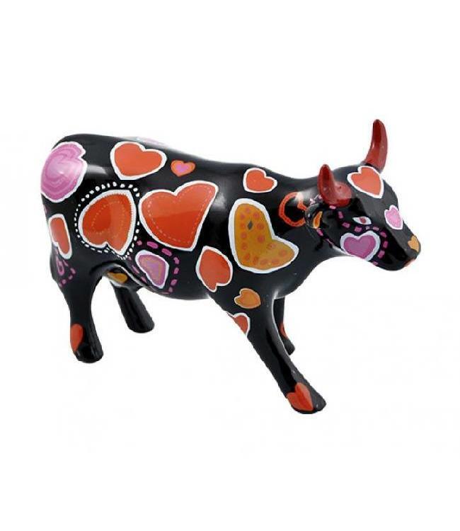 CowParade Cow Parade Cow-ween of Hearts (medium keramiek)