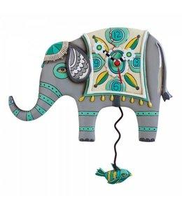 Allen Designs Wandklok Indiase Olifant