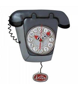 Wandklok Telefoon Hello