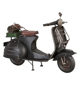 Model Retro Scooter Zwart