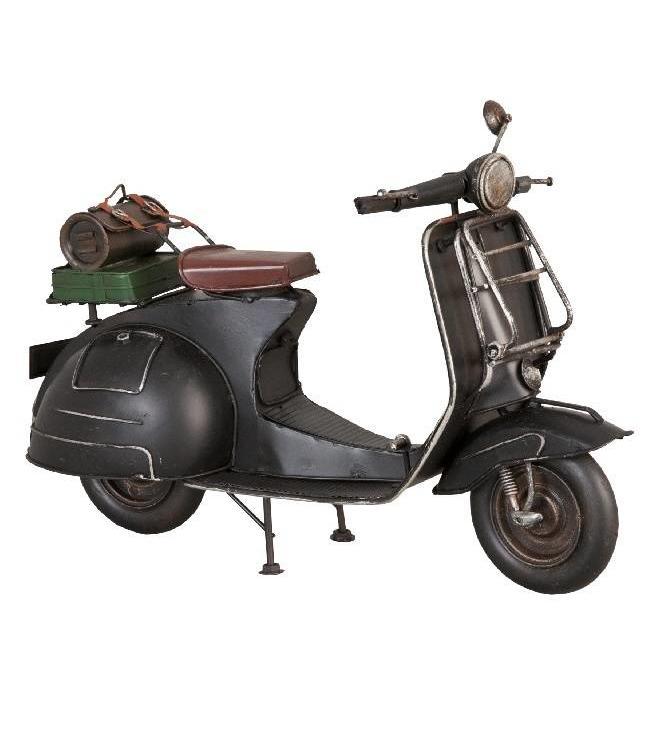 Clayre & Eef Model Retro Scooter Zwart