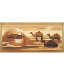 Ingelijste Posters: Kamelen en mysterieuze ogen