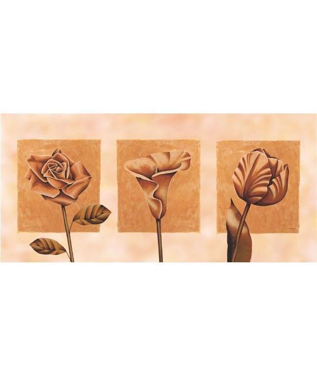 Kunstzinnige Ingelijste Posters: Abstracte Bloemen