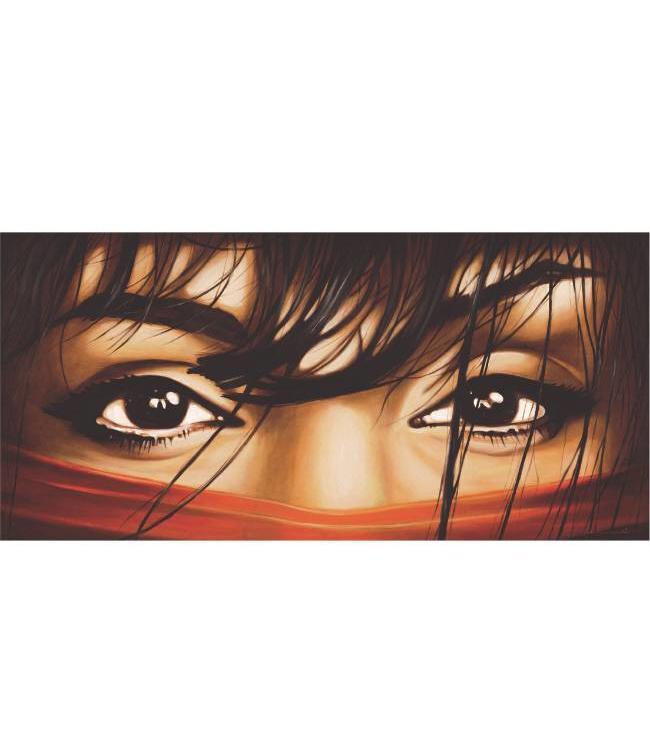 Kunstzinnige Ingelijste Posters: Arabische Vrouwen ogen