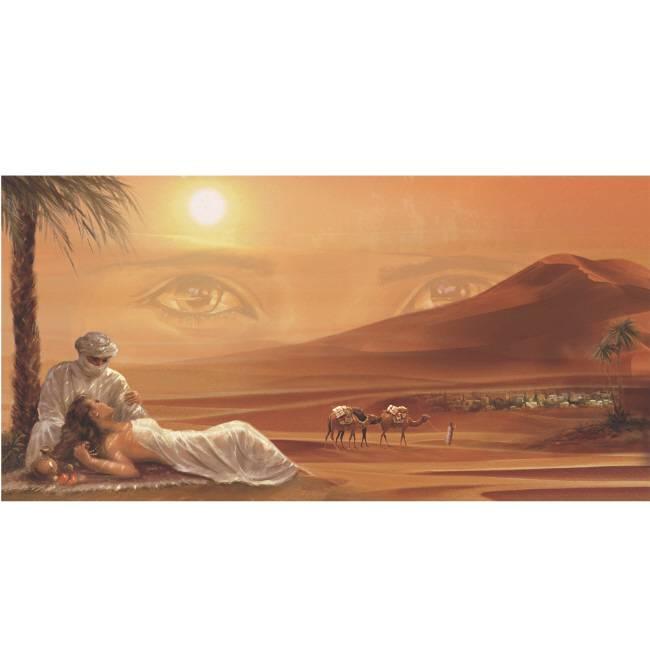 Kunstzinnige Ingelijste Posters: Arabisch stel