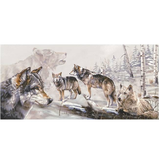 Kunstzinnige Ingelijste Posters: Wolven in het woud