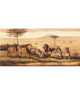 Ingelijste Posters: Leeuwen op de Savanne