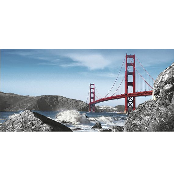 Kunstzinnige Ingelijste Posters: San Francisco Golden Gate Bridge